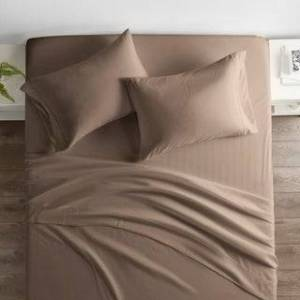 ienjoy Home Restoration Collection 4 Piece Aloe Vera Microfiber Bed Sheet Set (California King - Taupe)
