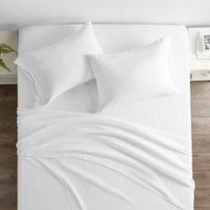 ienjoy Home Restoration Collection 4 Piece Aloe Vera Microfiber Bed Sheet Set (California King - White)