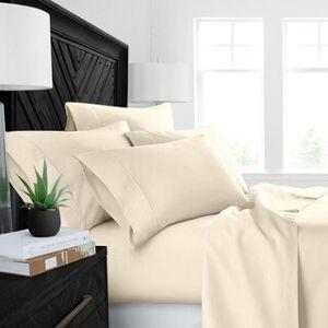 ienjoy Home Restoration Collection 4 Piece Aloe Vera Microfiber Bed Sheet Set (King - Cream)