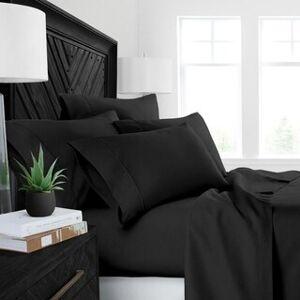 ienjoy Home Restoration Collection 4 Piece Aloe Vera Microfiber Bed Sheet Set (King - Black)