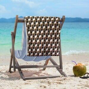 ArtVerse Ombre Geometric Stripes Beach Towel - 36 x 72 (Cotton - Sunset Ombre)