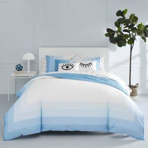 Now House by Jonathan Adler Vally Blue Cotton Comforter Set (Twin - Vally)