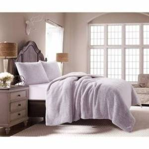 ORIENT HOME COLLECTION Sherpa 3pc Comforter Set (Queen - Light Purple)