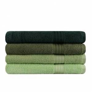 Decorotika Turkish Cotton 4 Piece Bath Towel Set with a Gift Box (28'' x 55'' (70 x 140 cm) - Shades of Green)