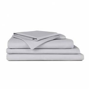 Poly and Bark Heavenly Sateen Bundle (Seagull Grey - Twin)