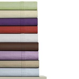 Marwah Corporation Luxury Extra Deep Pocket Solid Flannel Bed Sheet Set (King - Lavender Herb)
