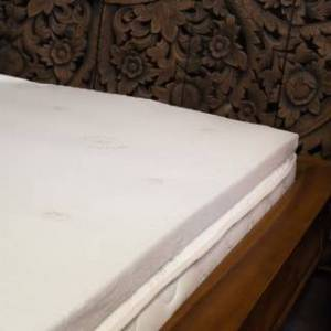 Bio Sleep Concept Natural Latex 2-inch Mattress Topper with Organic Cotton Cover (Twin XL)