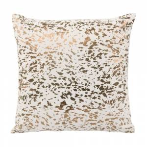 Overstock Leather Speckled Gold Pillow (Speckled Gold)