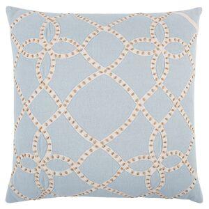 "Rizzy Home Aqua Gold Trellis Decorative Pillow 20"" x 20"" (Down)"