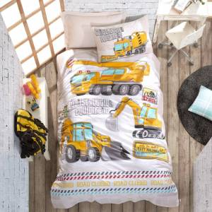 SUSSEXHOME Building White Twin Size Duvet Cover Set (Yellow Twin)