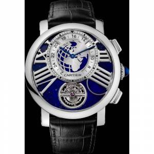 Cartier Men's W1556222 'Rotonde De Cartier' Black Leather Watch