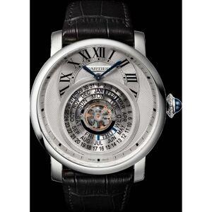 Cartier Men's W1556242 'Rotonde De Cartier' Black Leather Watch