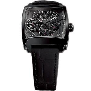 Tag Heuer Men's WAW2081.FC6348 'Monaco' Black Leather Watch (Black)