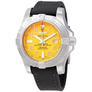 Breitling Men's A17331101I1W1 'Avenger II Seawolf' Grey Canvas Watch - Yellow (Yellow)
