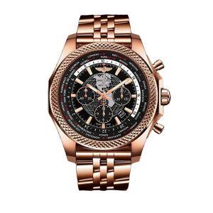 Breitling Men's RB0521U4-BE02-990R 'Bentley B05 Unitime' Chronograph Rose Gold-Tone 18kt Rose Gold Watch - Black (Black)