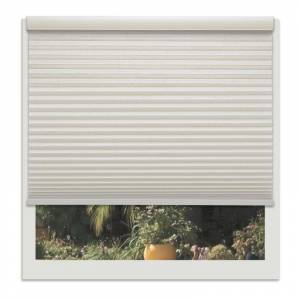Linen Ave. Linen Avenue Custom Cordless Seashell Off-white 44- to 45-inches Wide Light-filtering Cell (45.5 x 30 - 36 Inches)