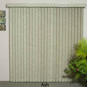"""znl Window Covering Ash Fabric Vertical Blind, 72"""" L x 36"""" to 98"""" W, CORDLESS (68"""" w x 72"""" l)"""