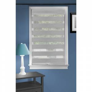 ACHIM Cordless Celestial Sheer Double Layered  Shade - Grey (40 - 49 Inches - 48 x 72)