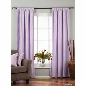 Indian Selections Lavender Tab Top  Velvet Curtain / Drape / Panel  - Piece (Matching Lining 60 X 120 Inches (152 X 304 Cms))
