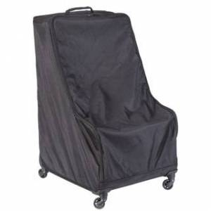 Quickway Imports Black Children's Car Seat Travel and Storage Bag with Wheels (Black)