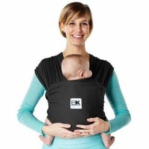Baby K'tan Breeze Baby Wrap Carrier (Medium - Black)