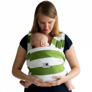 Baby K'tan Print Baby Wrap Carrier (Small - Olive Stripe)
