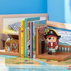 Teamson Fantasy Fields Pirates Island Bookends Set (Fantasy Fields - Pirates Island Set of Bookends)