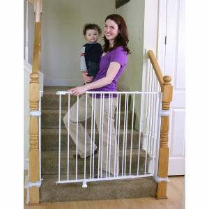 Regalo Top of Stairs Extra Tall Baby Gate (White, Top Of Stairs Extra Tall Safety Gate)