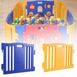 LivEditor Baby Playpen Kids 8 Panel Safety Play Center Yard Home Indoor (Orange)