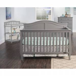 Child Craft Camden 4-in-1 Lifetime Convertible Crib, Cool Gray (Cool Gray)