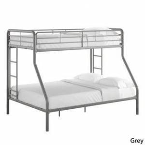 Taylor & Olive Mazus Twin over Full Bunk Bed (Grey)