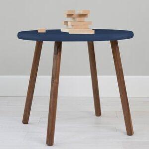 Taylor & Olive Poppy Kids Table (30 inch diameter - Walnut Finish - Deep Blue)