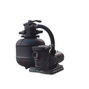 Overstock FlowXtreme™ Pro Sand Filter System w/ 1.0HP Dual Speed Pump - Above Ground (Black)