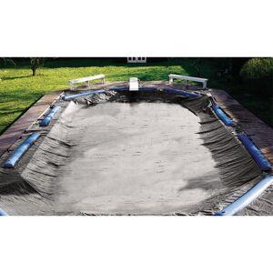 Overstock Swimline 16' x 32' Pool Size Super Deluxe Winter Cover - 21' x 37' (Silver - 21' x 37')