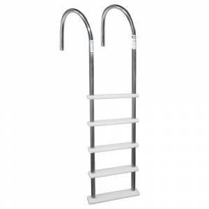 Blue Wave Standard Stainless Steel In-Pool Ladder for Above Ground Pools (White)