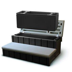 Confer Spa Step with Storage - Gray (Grey)