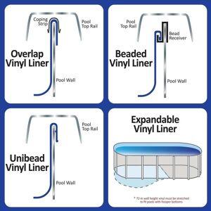 Swimline Sunlight 18-ft x 33-ft Oval Standard Gauge Overlap Liner - 48/52-in (Blue)