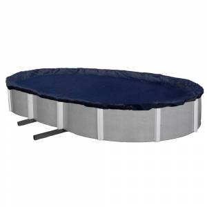 Blue Wave 8-year Oval Above Ground Winter Pool Cover (16' x 32')
