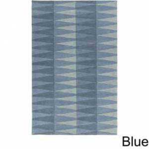 Overstock Hand-Tufted Gravia Wool Area Rug (8' x 10' - Blue)