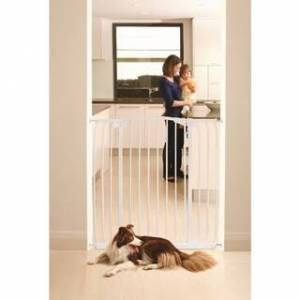 Dreambaby Chelsea Tall Hallway Auto Close Metal Baby Gate (White)