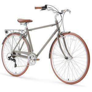 """Sixthreezero 26"""" sixthreezero Ride in the Park 7-Speed Touring City Beach Cruiser Men's Bicycle, Grey (630051)"""