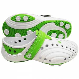 Dawgs Golf Dawgs Women's 'Spirit ' Lime Golf Shoes (White/Lime Green - 11)