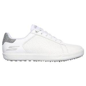 Skechers 2020 Skechers Women Go Golf Drive - Shimmer Spikeless Golf Shoes (White/Silver - 8)