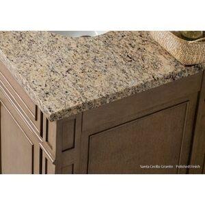 "James Martin Furniture Balmoral 72"" Double Vanity Cabinet, Antique Walnut (Oval - 3cm santa cecilia granite top)"