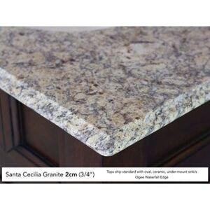"""James Martin Furniture Brookfield 26"""" Single Cabinet, Country Oak (Oval - 2cm santa cecilia granite top)"""