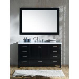 Ariel Cambridge Brown Wood 61-inch Single-sink Vanity Set (Espresso)
