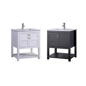 MTD Vanities Nord 24-inch Single Sink Modern Bathroom Vanity (White)