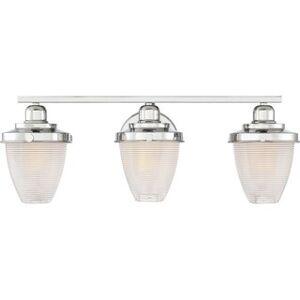 Overstock Pollard 3-light Bath Light (Silver - Polished/Nickel Finish)