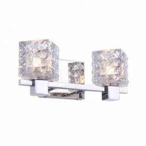 Woodbridge Lighting 18452CHR Langston 2-light Bath (Mercury Crystal Square - Clear)