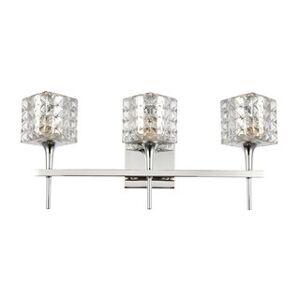 Woodbridge Lighting 20853CHRLE Bristol 3-light Bath w/LED (Mercury Crystal Square)